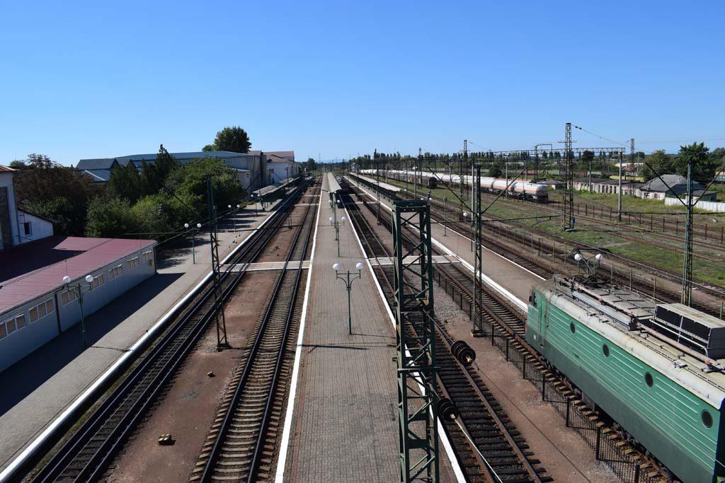 Csap vasútállomása, ide érkezik a záhonyi vonat is.