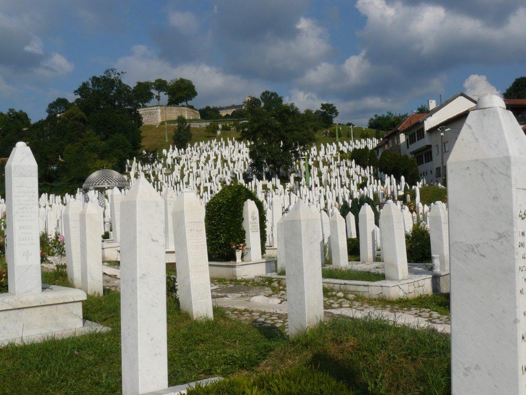 Temető Szarajevó központjában.